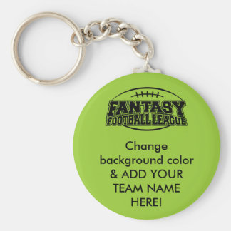 Fantasy Football League Basic Round Button Keychain