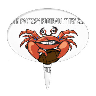 Fantasy Football League Meme Humor Cake Topper