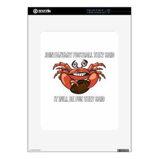 Fantasy Football League Meme Humor Decals For The iPad