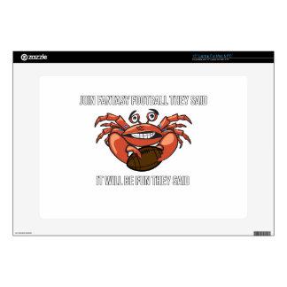 Fantasy Football League Meme Humor Laptop Decal
