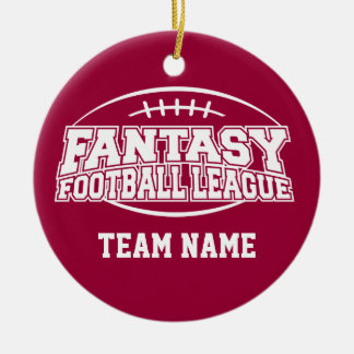 Fantasy Football League Double-Sided Ceramic Round Christmas Ornament