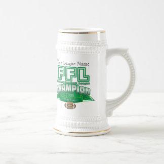 Fantasy Football League Trophy - Customized 18 Oz Beer Stein
