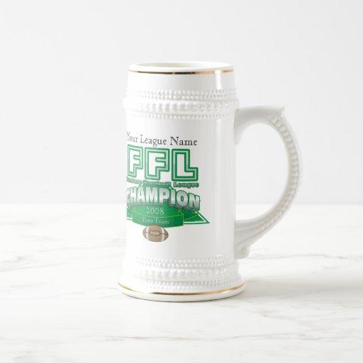 Fantasy Football League Trophy - Customized Mugs