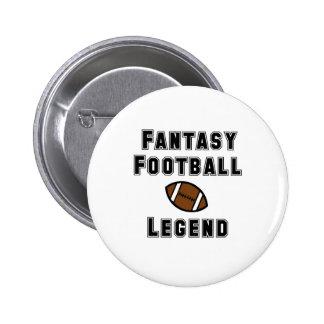 Fantasy Football Legend 2 Inch Round Button