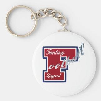 Fantasy Football Legend Basic Round Button Keychain