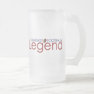 fantasy football legend new 2010 frosted glass beer mug