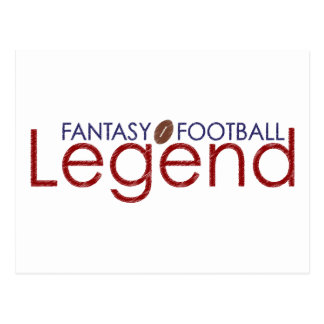 fantasy football legend new 2010 postcard