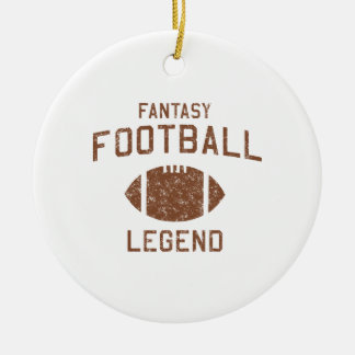 Fantasy Football Legend Double-Sided Ceramic Round Christmas Ornament