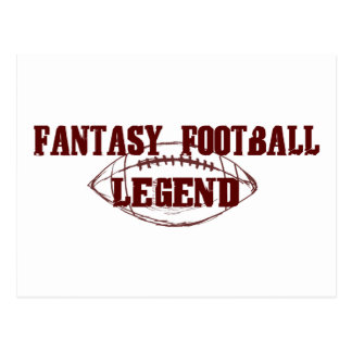 Fantasy Football Legend Postcard