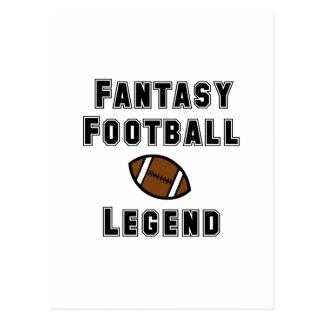 Fantasy Football Legend Postcard