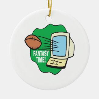 Fantasy Football Double-Sided Ceramic Round Christmas Ornament
