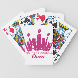 Fantasy Football Queen Bicycle Playing Cards