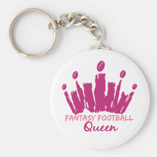 Fantasy Football Queen Keychain