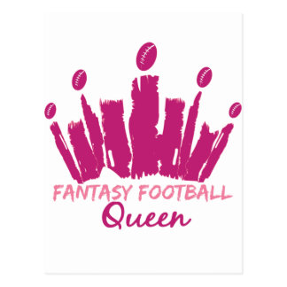 Fantasy Football Queen Postcard