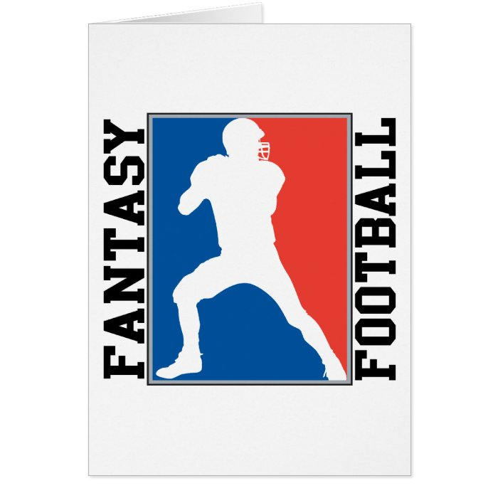 Fantasy Football, red white and blue Logo Card