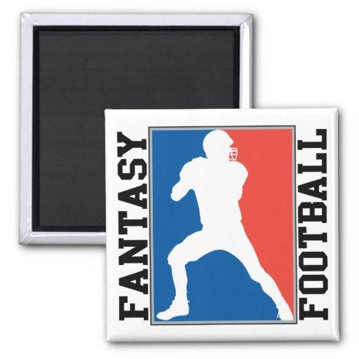 Fantasy Football, red white and blue Logo Refrigerator Magnet