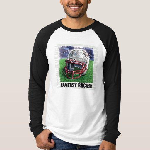 Fantasy Football Rocks Gear Tee Shirt