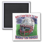 Fantasy Football Rocks the House Gear Refrigerator Magnet