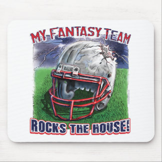 Fantasy Football Rocks the House Gear Mouse Mat