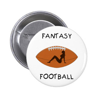Fantasy Football Silhouette Pinback Button