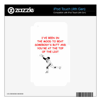 fantasy football iPod touch 4G decal