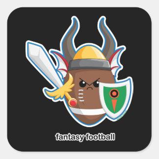 Fantasy Football Square Sticker