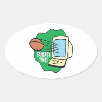 Fantasy Football Oval Stickers