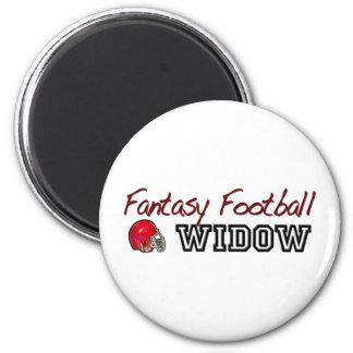Fantasy Football Widow 2 Inch Round Magnet