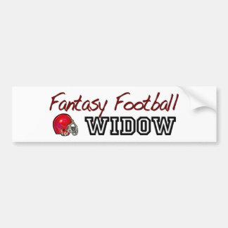 Fantasy Football Widow Bumper Sticker