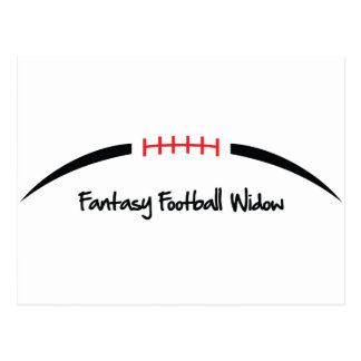 Fantasy Football Widow Postcard