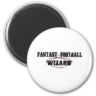 Fantasy Football Wizard 2 Inch Round Magnet