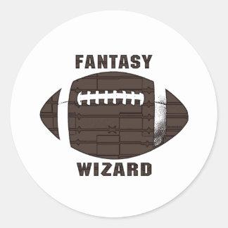 Fantasy Football Wizard Classic Round Sticker