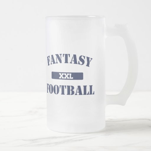Fantasy Football XXL 16 Oz Frosted Glass Beer Mug