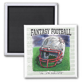 Fantasy Football Zen Master Gear 2 Inch Square Magnet