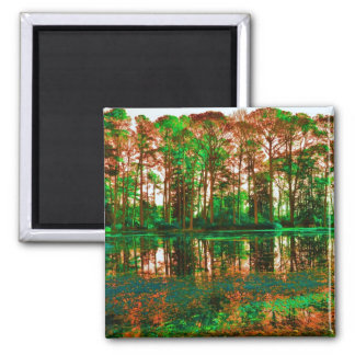 Fantasy Forest 2 Inch Square Magnet