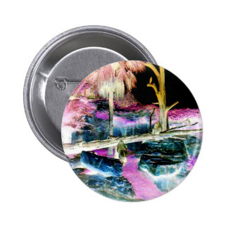 Fantasy Forest Ape Family Pinback Button