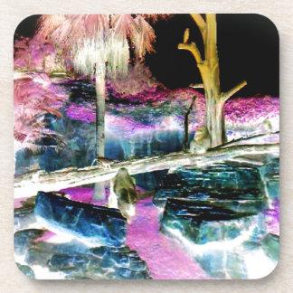 Fantasy Forest Apes Photo Beverage Coaster