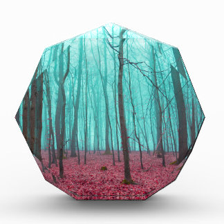 Fantasy forest in red and turquoise award