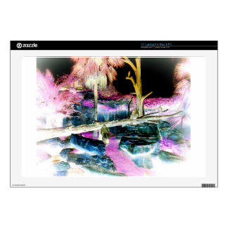 "Fantasy Forest with Apes 17"" Laptop Skin"