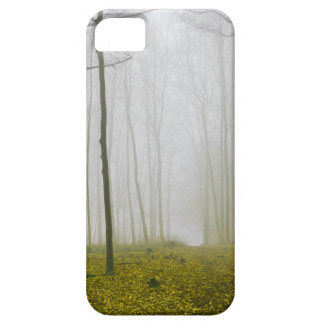 Fantasy forest with fog and yellow foliage iPhone SE/5/5s case