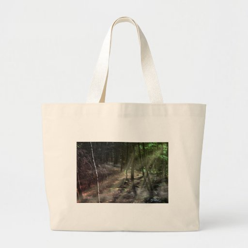 Fantasy Forest with Sunbeams Jumbo Tote Bag