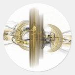 fantasy fractal classic round sticker