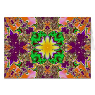 fantasy fractal greeting card
