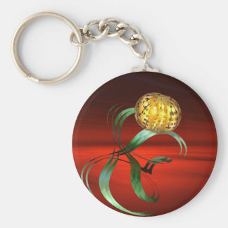 fantasy fractal on the red basic round button keychain