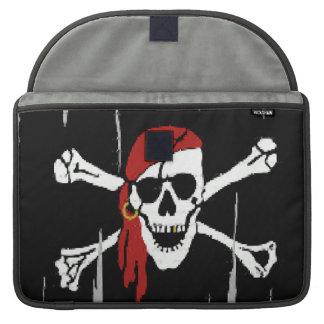 Fantasy Fun Pirate Skull Macbook Pro Laptop Sleeve