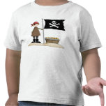 Fantasy Fun Pirate with Skull Flag T-Shirt