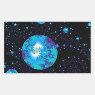 fantasy galaxies fractal sticker/envelope sealer rectangular sticker