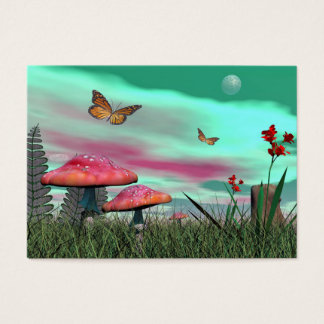 Fantasy garden - 3D render Business Card