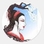 Fantasy Geisha Classic Round Sticker