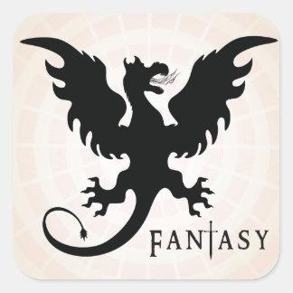 Fantasy Genre Book Cover Square Sticker